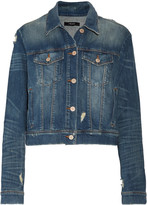 J Brand Harlow distressed denim jacket