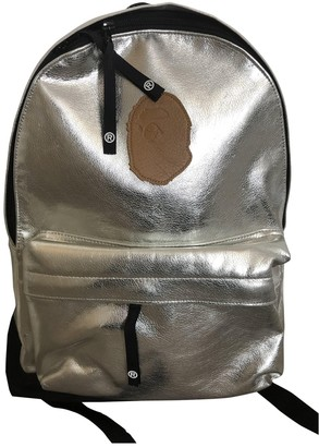 A Bathing Ape Silver Synthetic Backpacks