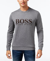 HUGO BOSS Green Men's Graphic-Print Sweatshirt