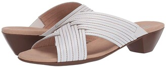 Munro American Kelsey (White Leather) Women's Shoes