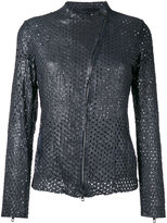 Salvatore Santoro - perforated jacket - women - Leather - 44