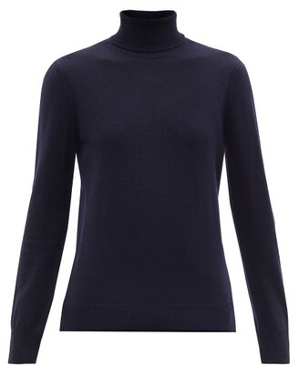 A.P.C. Sandra Wool Roll-neck Sweater - Navy