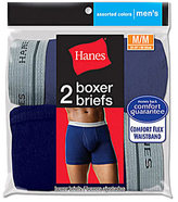 Hanes Men's Assorted Blues Boxer Brief (6 Pairs)