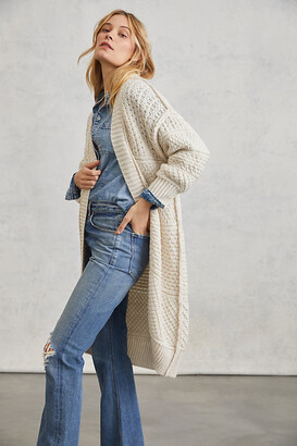 Anthropologie Selene Cardigan By in White Size XS