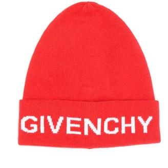 Givenchy Kids logo knit beanie