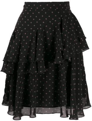 ALEXACHUNG Alexa Chung short ruffled skirt