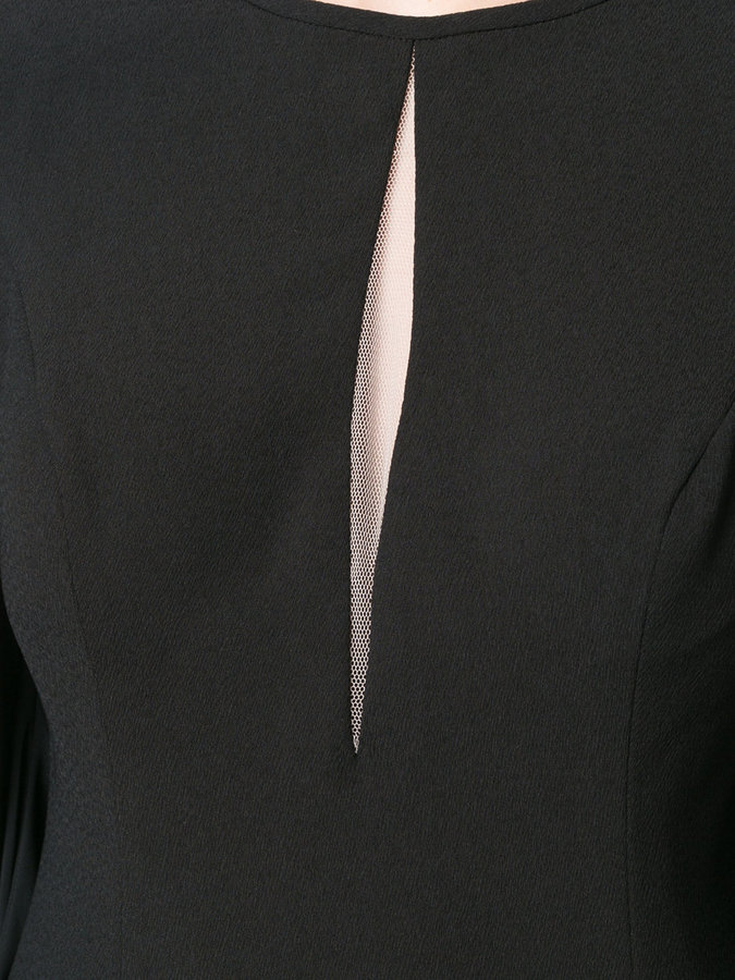 Aidan Mattox cut out detail dress