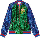 Gucci Embroidered sequin bomber