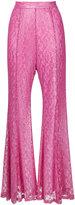 G.V.G.V. foiled lace flared pants - women - Cotton/Nylon/Polyester - 34