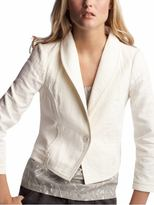 Quilted cropped blazer