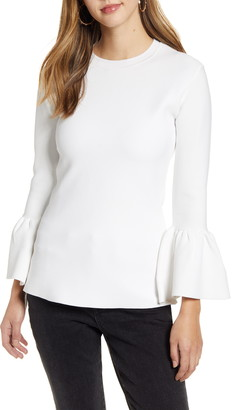 Rachel Parcell Exaggerated Bell Sleeve Sweater