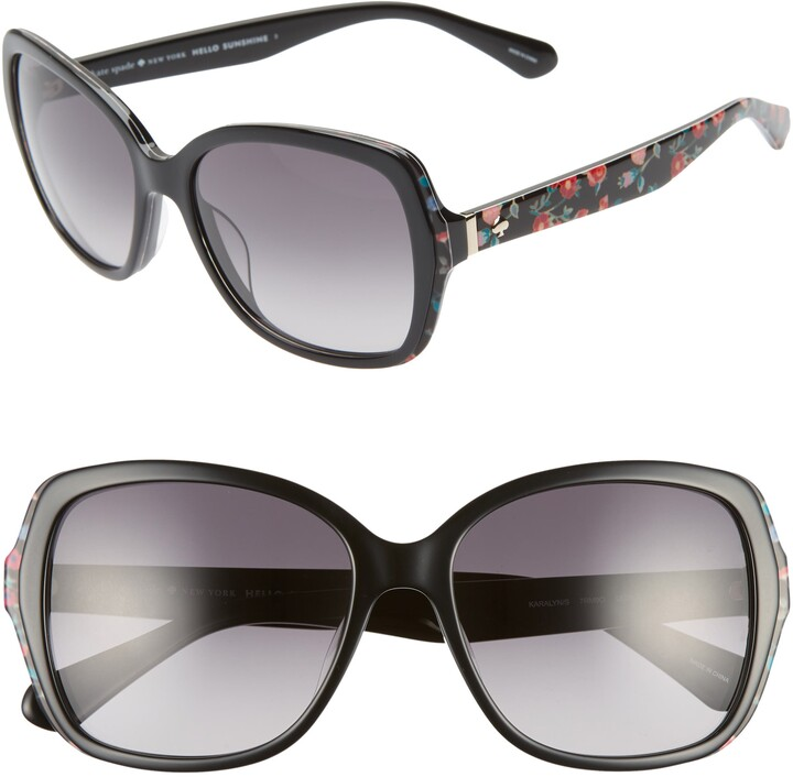 Kate Spade Karalyns 56mm Gradient Butterfly Sunglasses