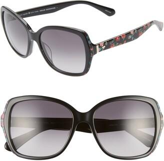 Kate Spade Karalyns 56mm Gradient Butterfly Sunglasses