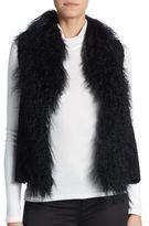 Adrienne Landau Knit Lamb Fur Vest