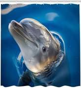 Dolphin shower curtain Grey Sea Animal Dolphin Print shower curtains 100% Polyester 71x71