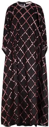 Tory Burch Black embellished organza gown