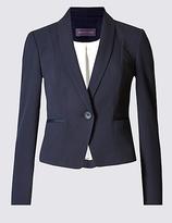 M&S Collection PETITE Grosgrain Trim Jacket