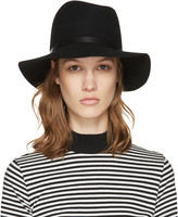 Rag & Bone Black Wool Fedora
