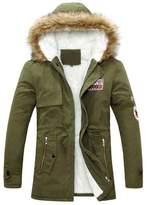 Fashion Showcase Men's Autumn Winter Long Trench Thick Jacket Coat Down (XXXL, )