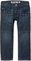 Crazy 8 Dark Wash Denim Moto Stitch-Detail Jeans - Infant, Toddler & Boys