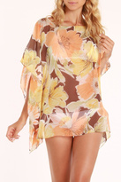 Violet Del Mar Floral Tunic Cover Up