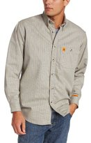 Wrangler Men's Fire Resistant Work Shirt with Two Front Pockets