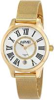 August Steiner Women's AS8094YG Analog Display Japanese Quartz Gold Watch