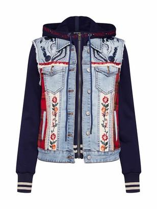 Desigual Liberte Jacket - Blue - UK 8