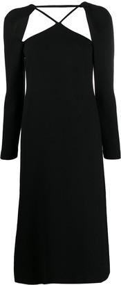 REJINA PYO Cut-Out Crepe Midi Dress