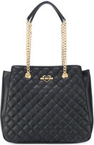 Love Moschino double-chains quilted shoulder bag - women - Polyurethane - One Size