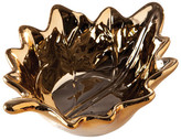 Torre & Tagus Gold Birch Leaf Ceramic Dish