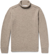 Margaret Howell Mélange Wool Rollneck Sweater - Mushroom