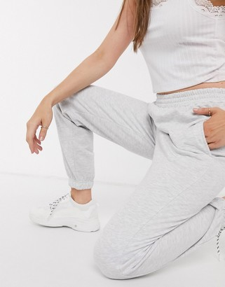 New Look cuffed jogger in light gray