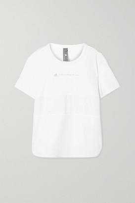 adidas by Stella McCartney Run Loose Climalite And Mesh T-shirt - White