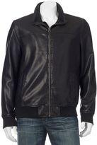 Dockers Men's Faux-Leather Bomber Jacket