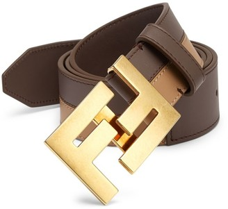 Fendi Bicolor Leather Belt