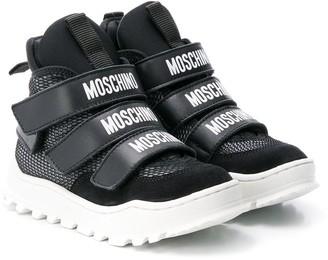 Moschino Kids hi-top logo sneakers