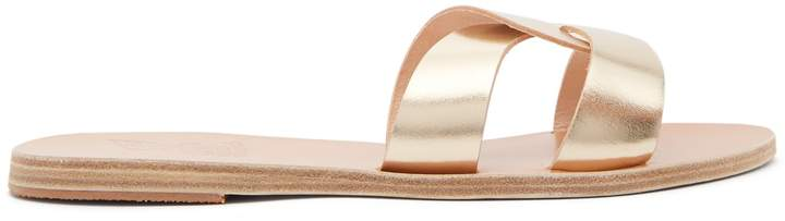 Ancient Greek Sandals Desmos cut-out leather slides