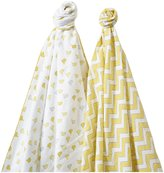 Swaddle Designs SwaddleDuo Set of 2 - Little Chickies + Chevron - Kiwi