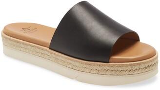 Aquatalia Shayna Espadrille Platform Slide Sandal