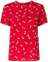 Miu Miu cherry print blouse