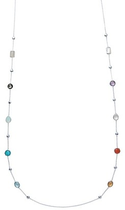 Ippolita Rock Candy Sterling Silver, Multi-Stone Ball & Stone Station Long Necklace