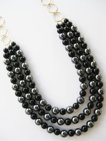 Triple Strand Bead Necklace