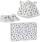 Little Marc Jacobs Grey Animal Print Jersey Hat and Booties Gift Set