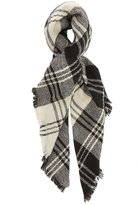 Charlotte Russe Fringed Plaid Blanket Scarf