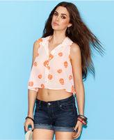Ali & Kris Juniors Shirt, Sleeveless Printed Cropped