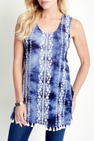 Karen Kane Embroidered Tassel Tunic