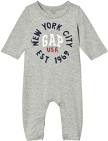 Gap Heather Grey Logo One-Piece