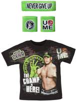 WWE John Cena Champ Is Here T-shirt Headband Wristbands Boys Juvy-Youth XL