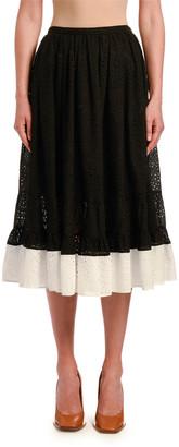 No.21 Colorblock Circle Skirt